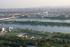 Вид на Дунай и Вену с телебашни
