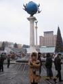 Столб расстояний на Майдане