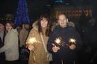 А это уже на Крещатике празднуем украинский Новый год