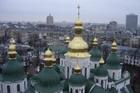 Софийский собор, вид на купола с его звонницы