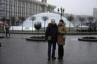 Мы с Сашей на Майдане